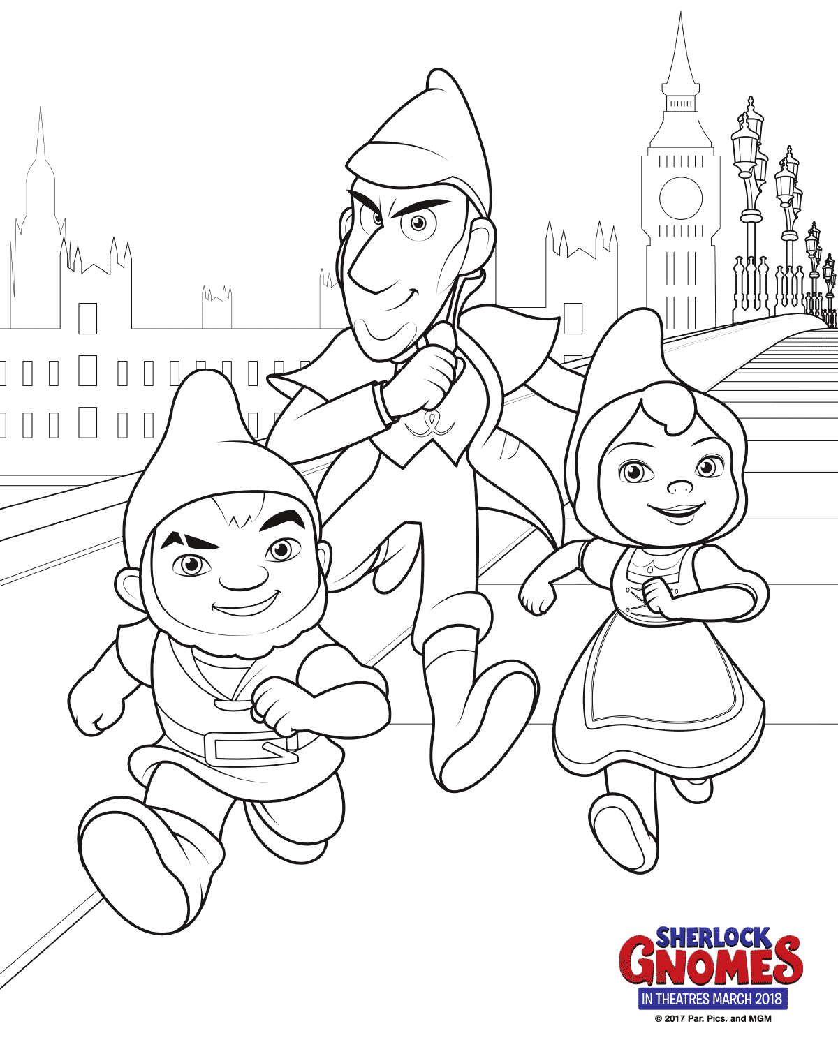 1200x1500 Free Printable Sherlock Gnomes Coloring Pages