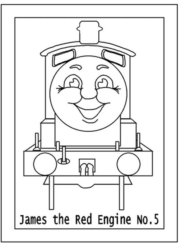 602x800 Thomas The Tank Engine Coloring Pages James Coloring Page For Kids
