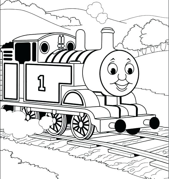 567x600 Thomas The Tank Engine Colouring Pages Plus Free The Train