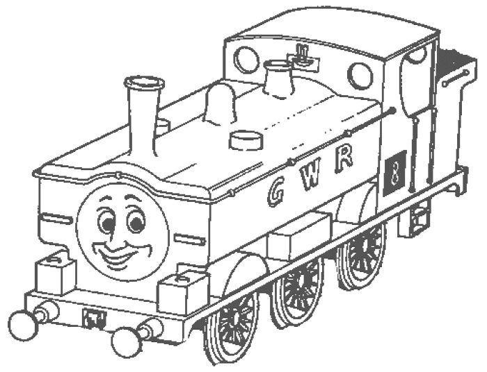 700x536 Free Printable Simple Thomas The Train Coloring Pages