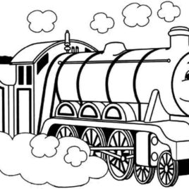 268x268 James Train Coloring Page Archives