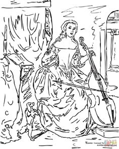 236x294 Marie Antoinette Coloring Page For Adults Coloring Pages