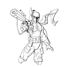 Jango Fett Coloring Pages