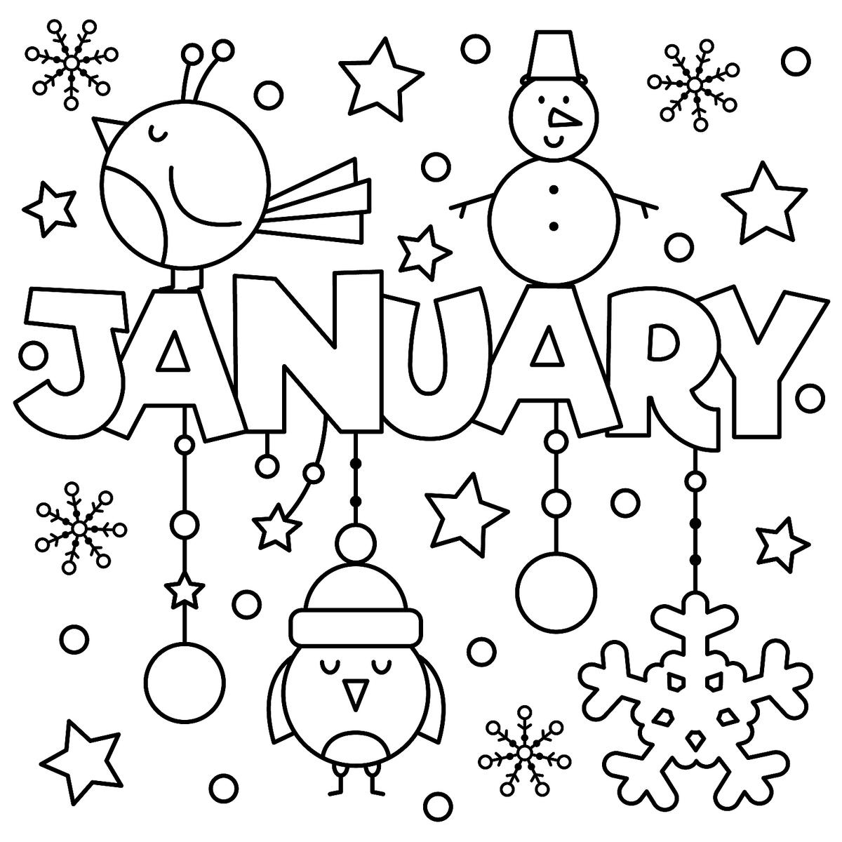 1200x1200 January Coloring Pages New January Flower Coloring Pages