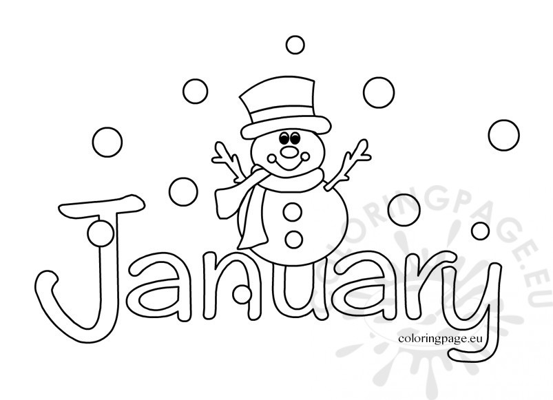 803x581 January Coloring Page January Coloring Sheets Coloring Page Free