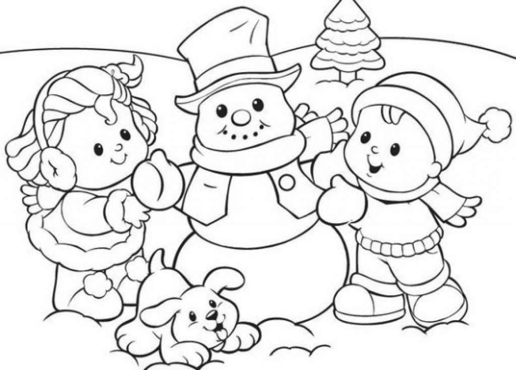 1024x734 Attractive Inspiration Free Printable Winter Coloring Pages