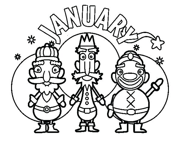 600x470 Free January Coloring Pages