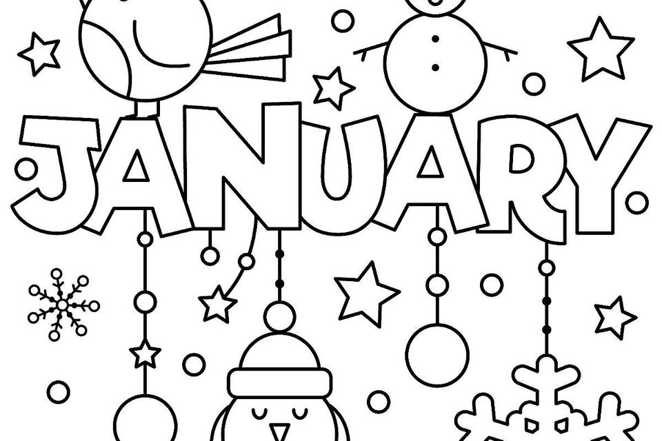 960x640 January Coloring Pages For Adults New Year January Coloring Pages