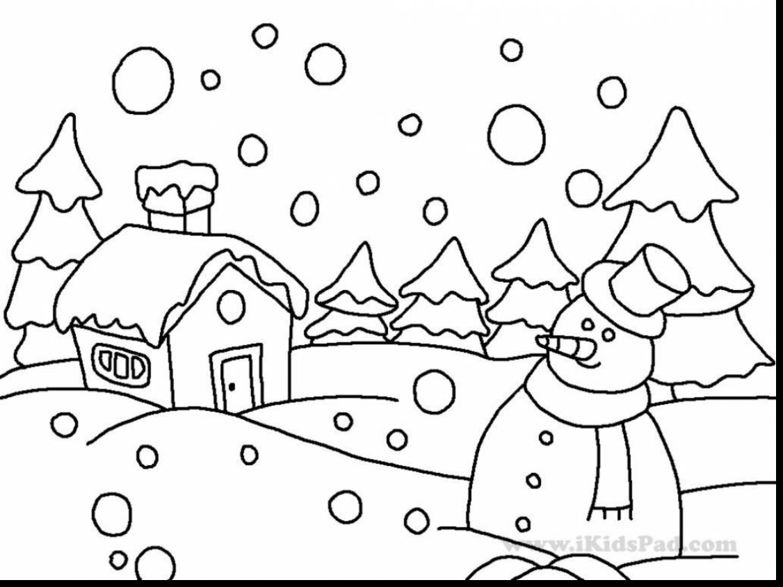 1126x844 Scarce January Coloring Pages For Preschool Astounding Winter