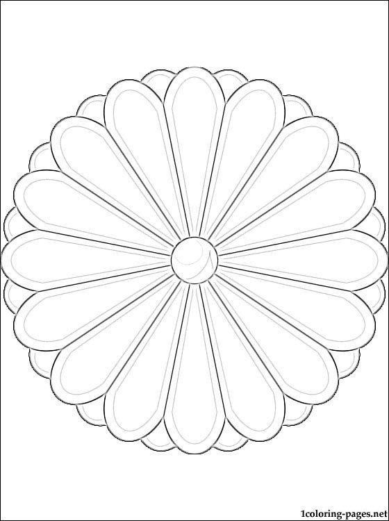560x750 Japan Coat Of Arms Coloring Page Coloring Pages