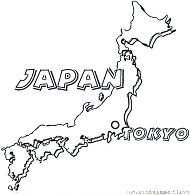 650x669 Japan Coloring Page