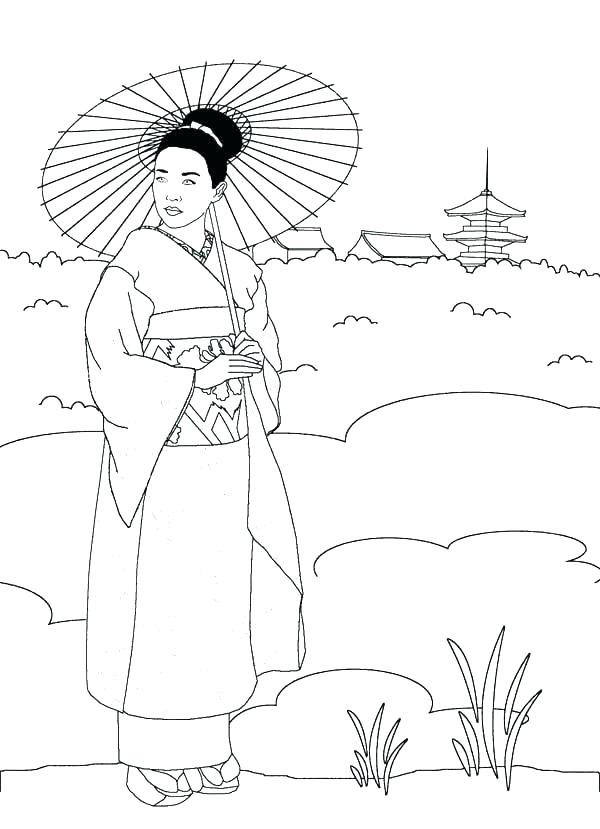 600x829 Japan Coloring Pages
