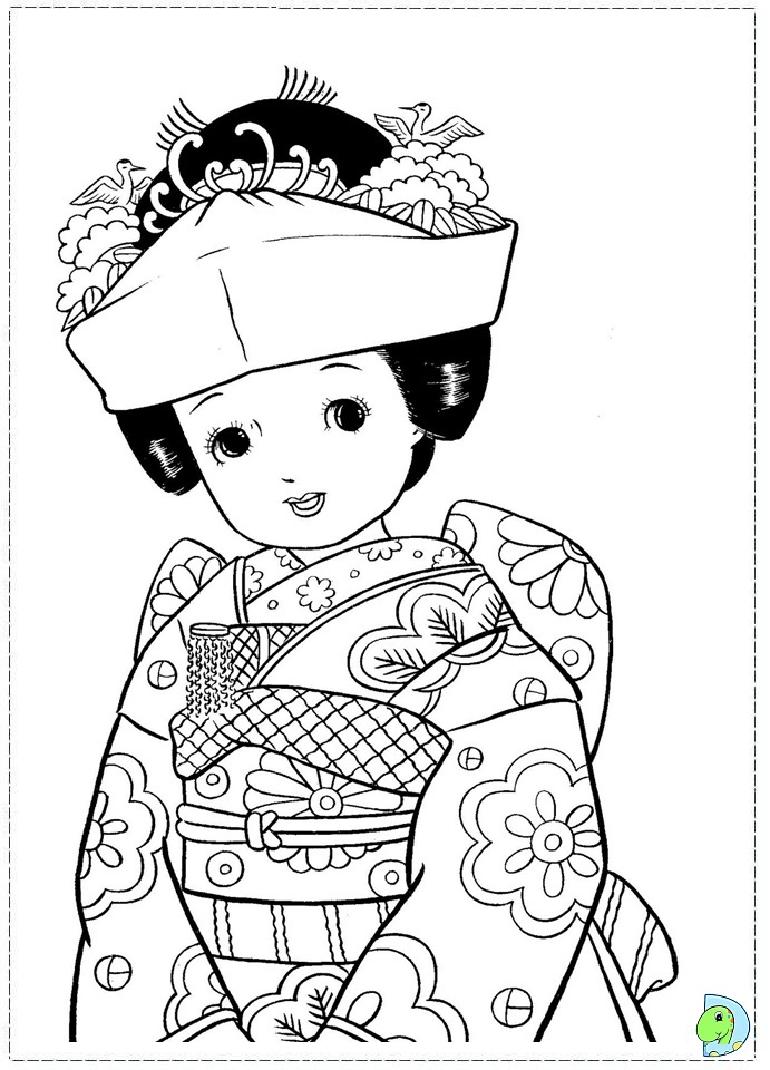 691x960 Japan Coloring Page