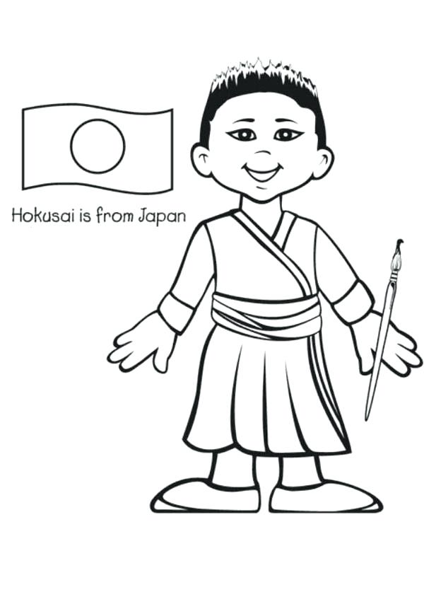 600x847 Japan Coloring Pages Hello Kitty In Japan Coloring Page Japan Map