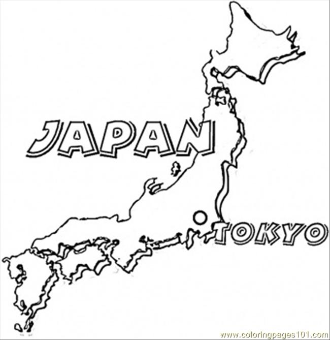 650x669 Map Of Japan Coloring Page