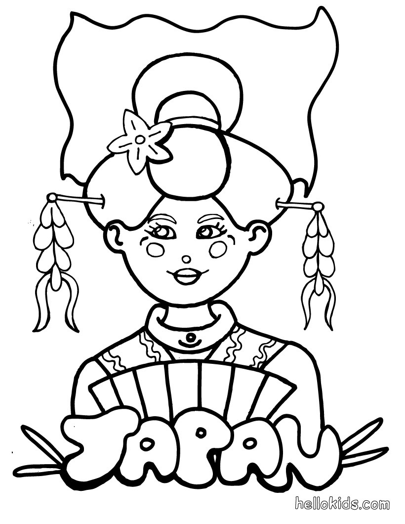 820x1060 Japan Coloring Page