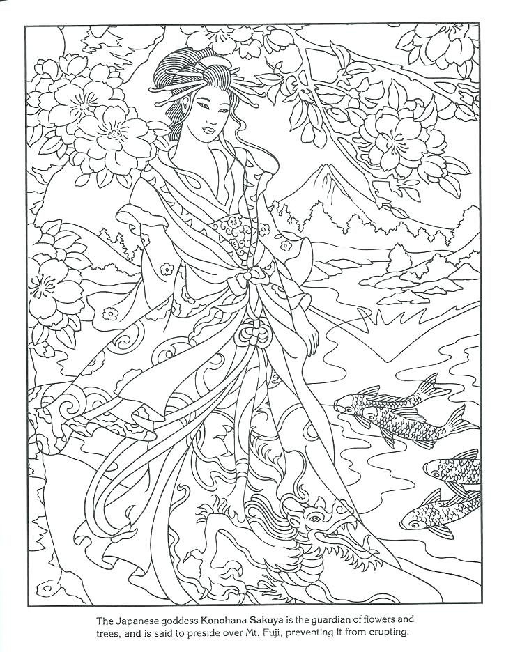 736x936 Japanese Coloring Pages Japan Coloring Pages For Adults Geisha