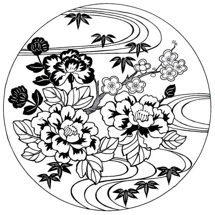 736x737 Best Far Eastern Culture Coloring Book Pages Images