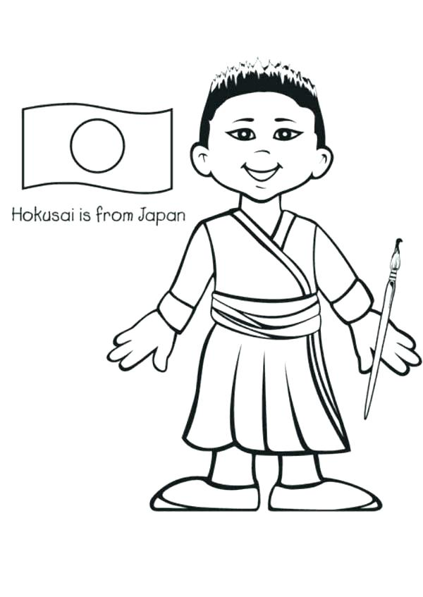 600x847 Japanese Coloring Pages Japan Coloring Pages Coloring Books Plus