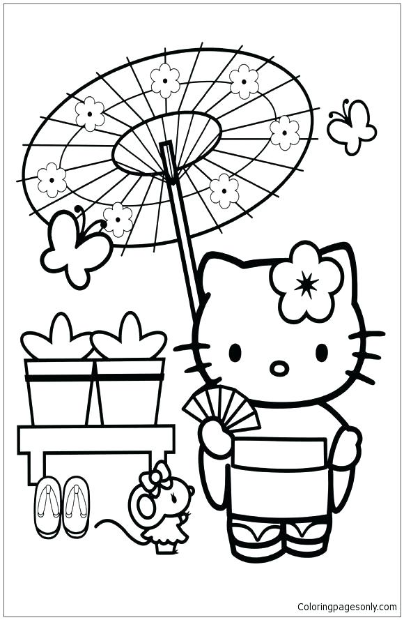 580x889 Japanese Coloring Pages