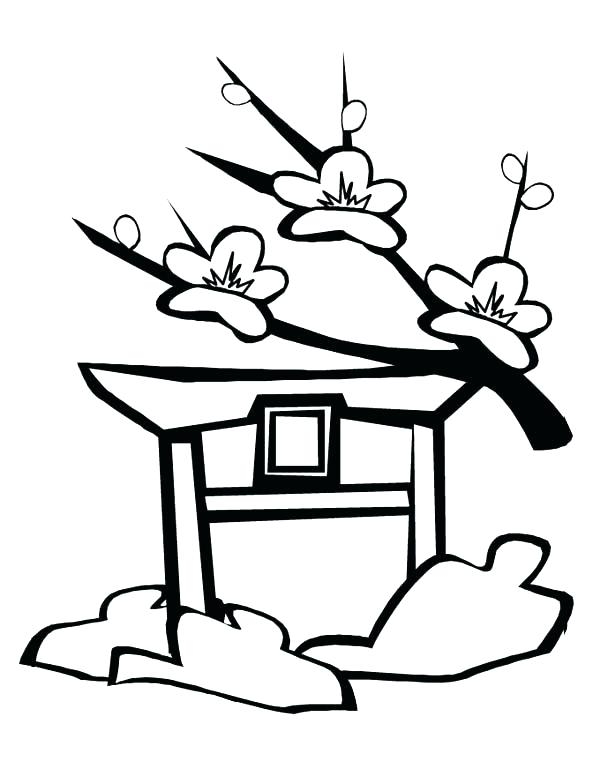 600x776 Japan Coloring Page Japan Coloring Pages Cherry Blossom In Japan