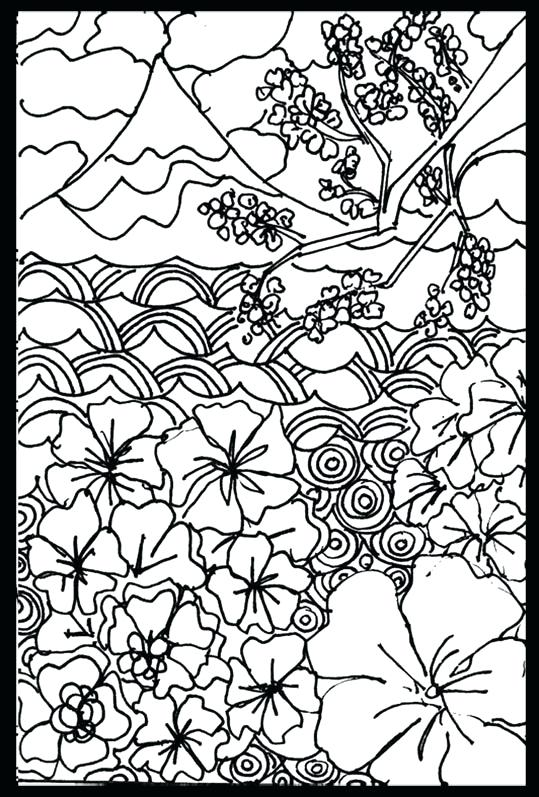 539x797 Japanese Coloring Page
