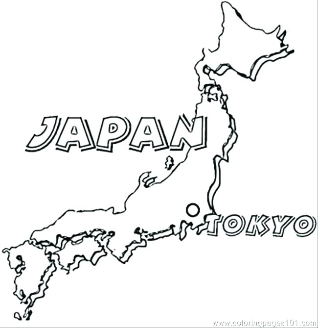 650x669 Japanese Coloring Pages Dragon Coloring Pages Map Of Japan