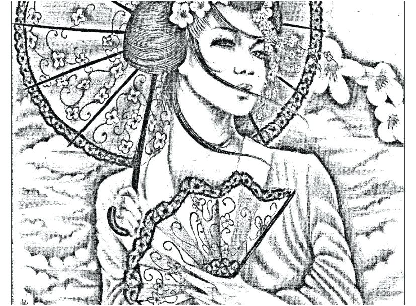 827x609 Japan Coloring Pages Coloring Pages Picture Geisha Japan Tattoo