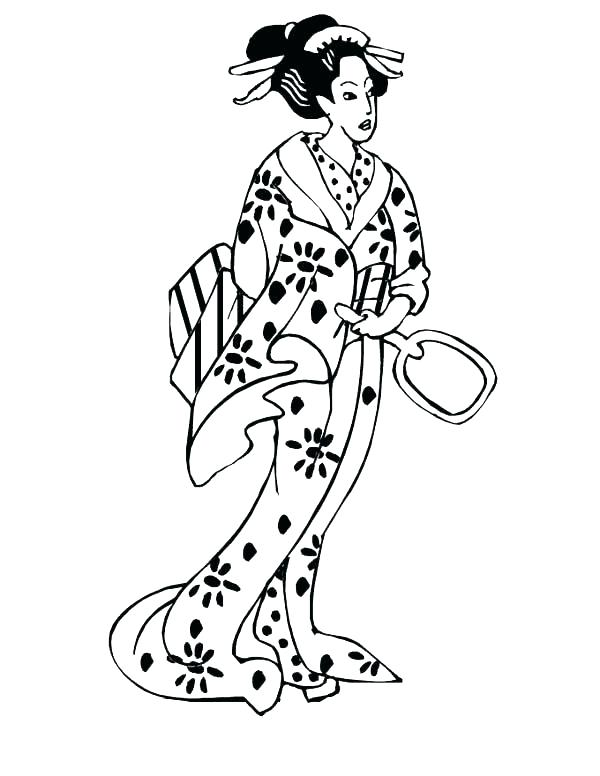 600x776 Japan Coloring Pages Free Coloring Pages Fan From Japan Japan