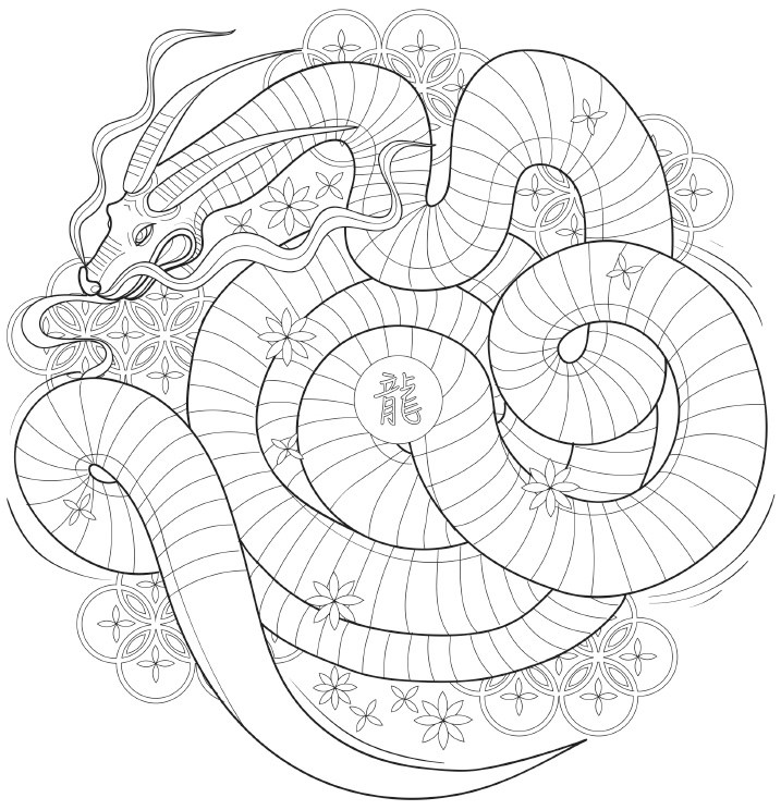 717x744 Japanese Coloring Books For Adults