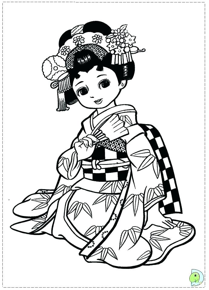 691x960 Japan Coloring Pages