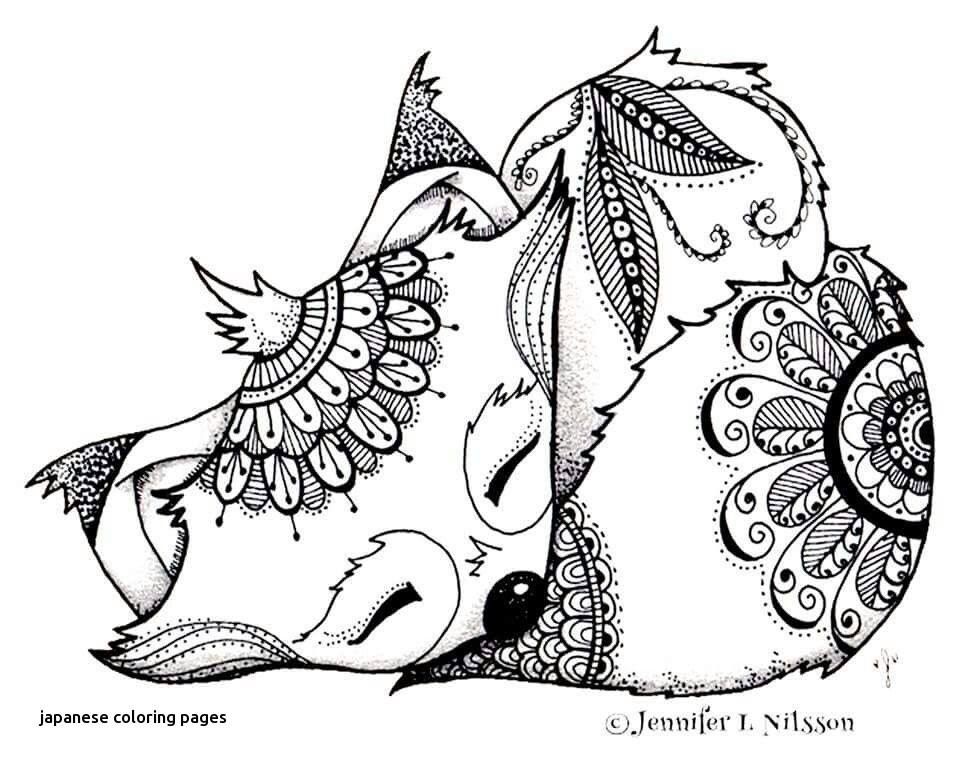 960x768 Fox Adult Coloring Page For Japanese Coloring Pages
