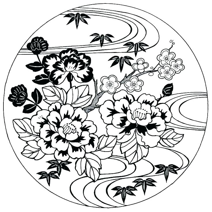 736x737 Japanese Coloring Pages Hand Japanese Dragon Coloring Sheets