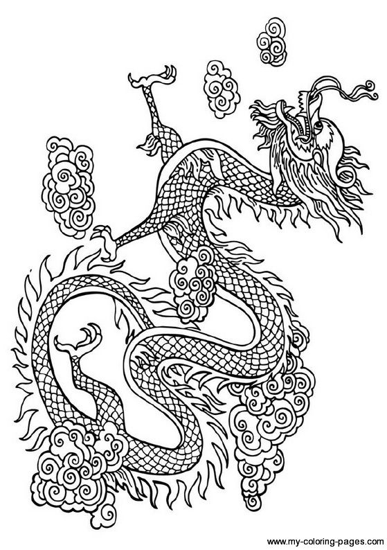 559x794 Japanese Dragon Coloring Pages Chinese Dragon Coloring Pages
