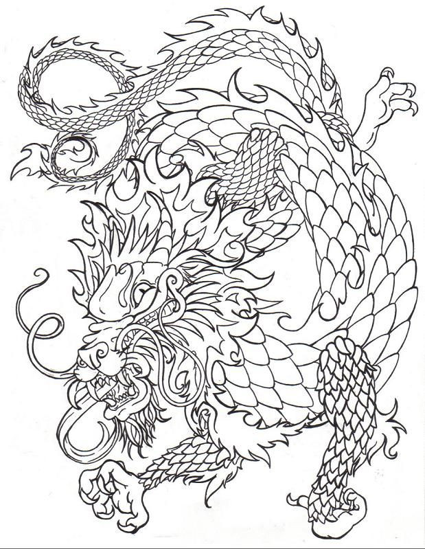 619x799 Chinese Dragon Coloring Pages Best Of Japanese Dragon Outline
