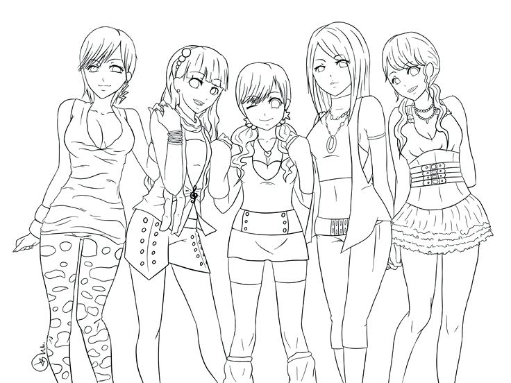 736x552 Free Anime Coloring Pages Anime Coloring Page Fan Picture Free