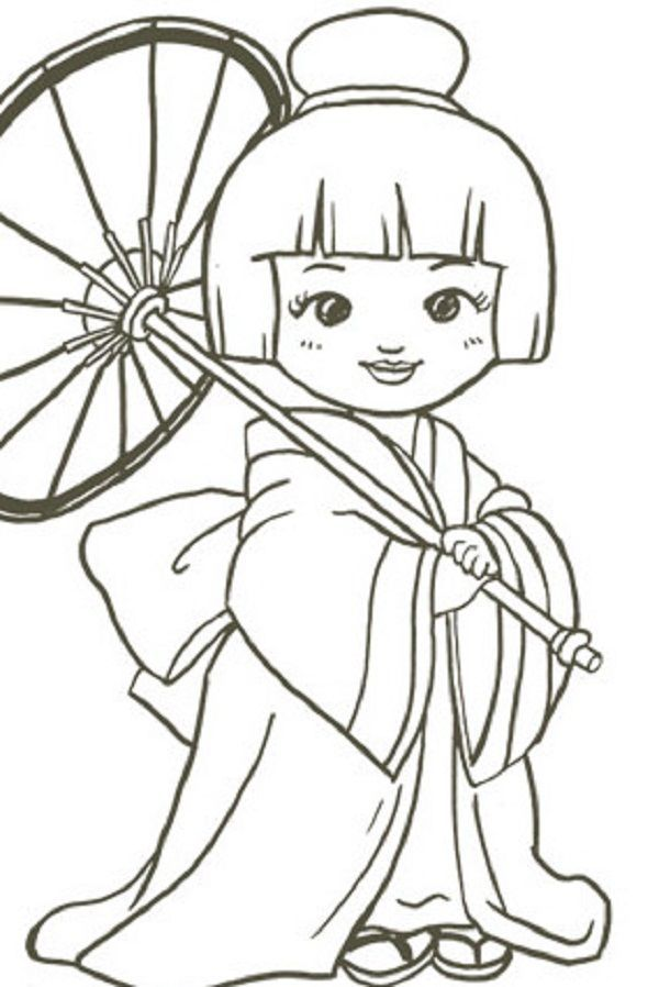 Japanese Fan Coloring Page At Getdrawings Com Free For Personal