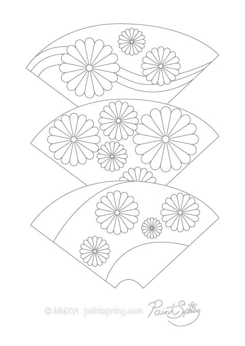 480x679 Printable Japan Adult Coloring Book
