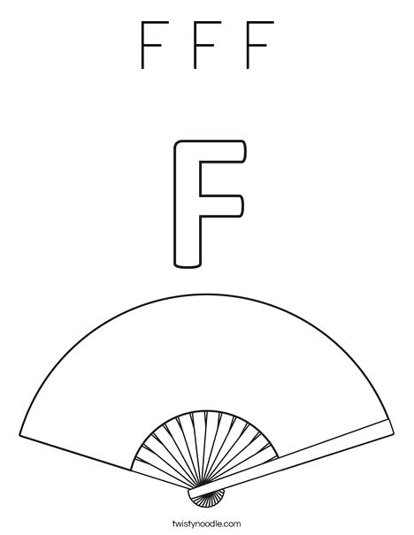 468x605 Fan Coloring Page