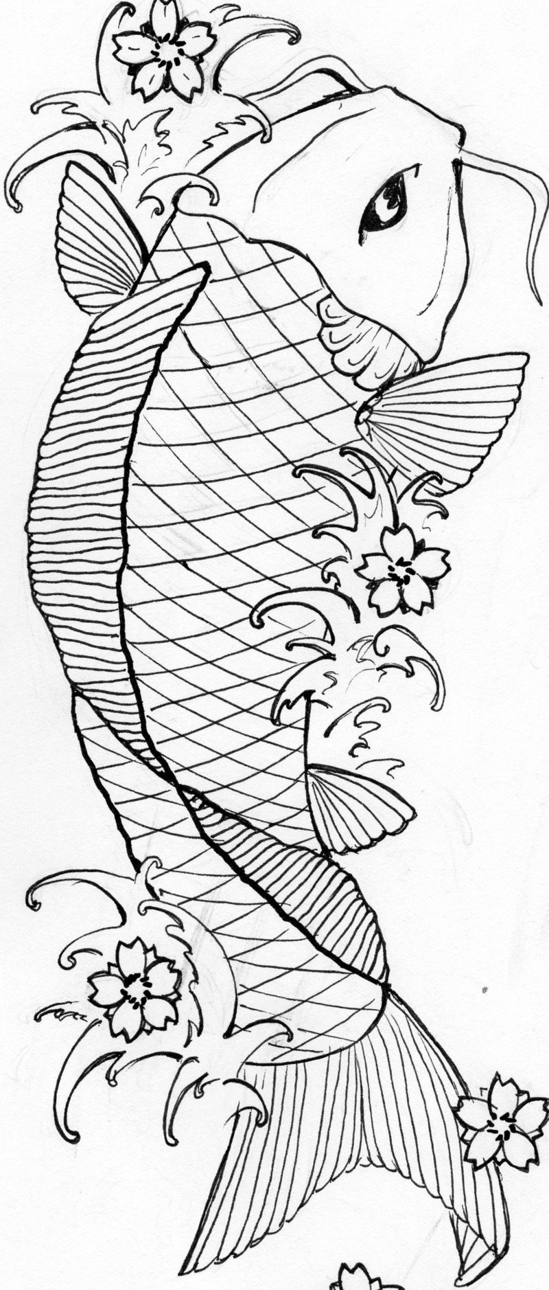 Japanese Fish Coloring Pages