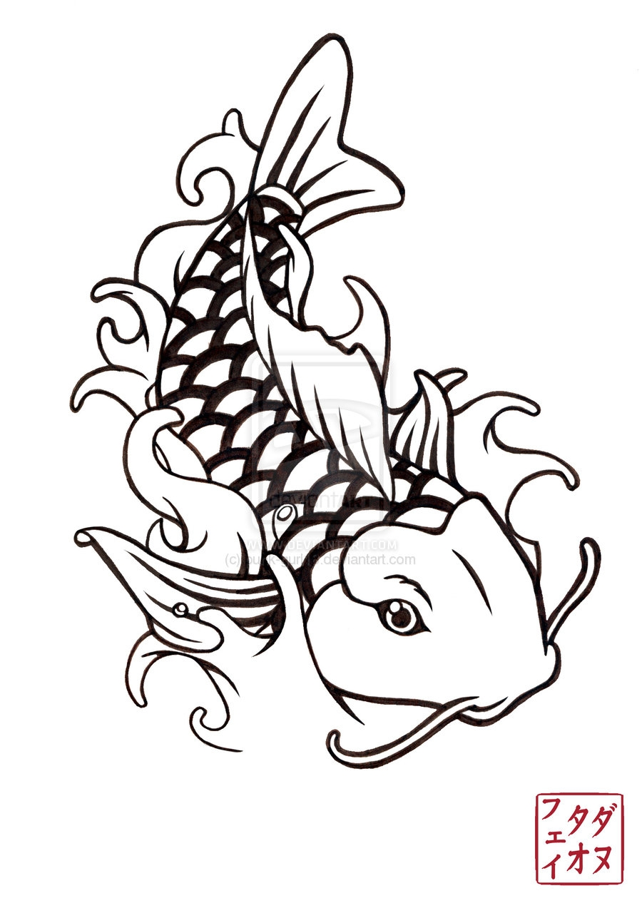 900x1273 Japanese Style Fish Dart Flight New Coloring Sheets
