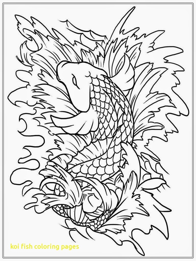 768x1024 Print Coloring Image Japanese Board And Adult Koi Fish Pages