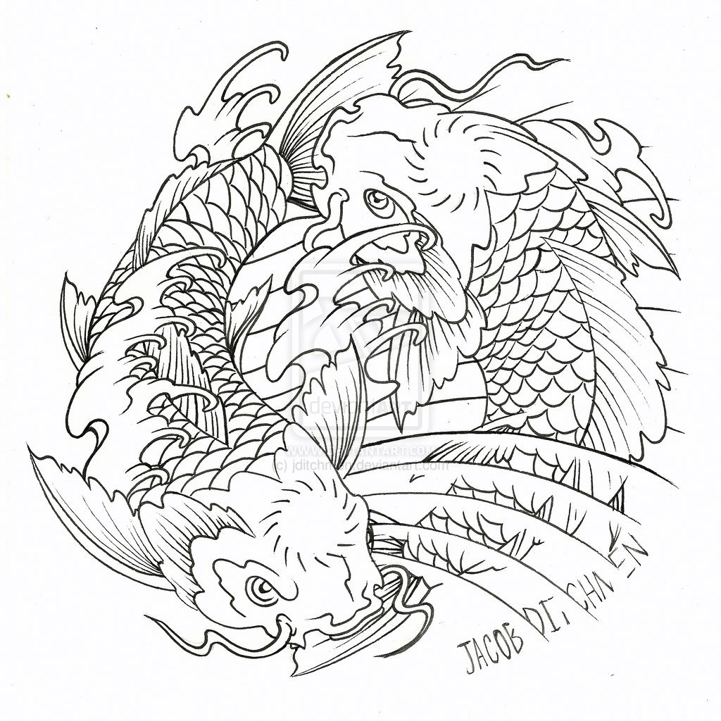 Japanese Fish Coloring Pages At Getdrawings Free Download