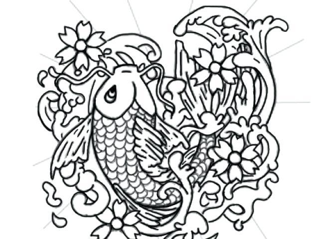 640x480 Carp Coloring Pages Japanese Koi Fish Coloring Pages Carp Coloring