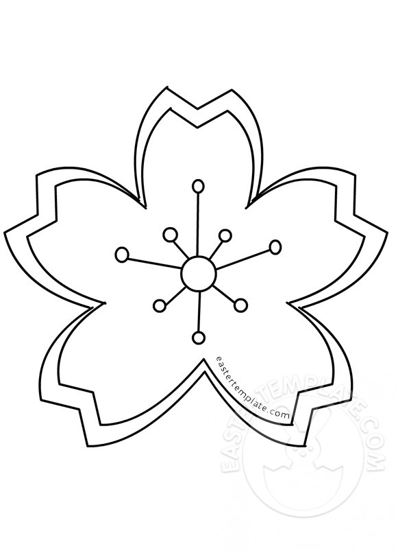 581x803 Cherry Blossom Clipart Coloring Page Many Interesting Cliparts
