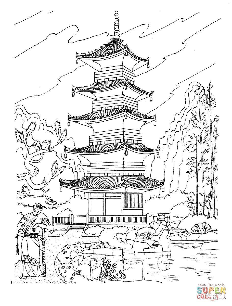 910x1200 Coloring Pages Japan Coloring Page Fun