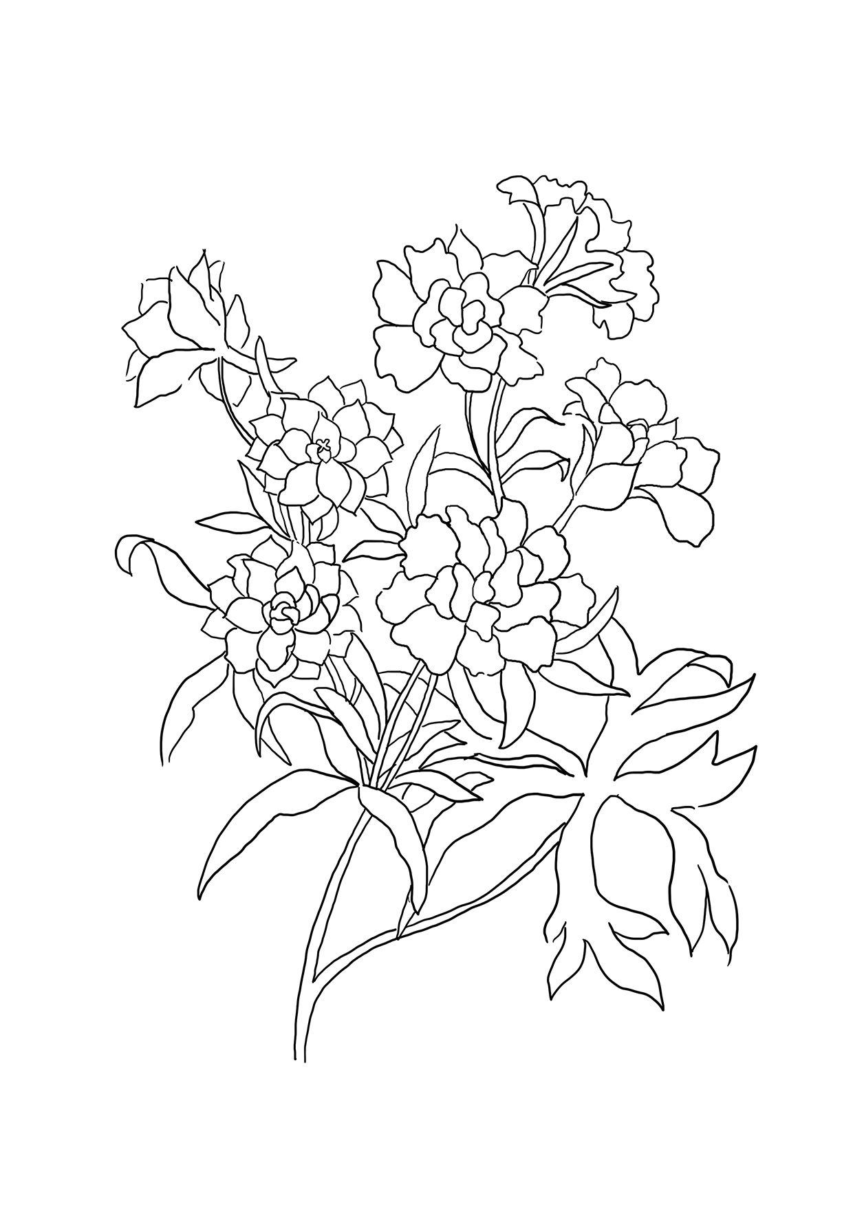 1240x1754 Inspiring Japanese Flower Coloring Pages Wonderfulcherry Blossom