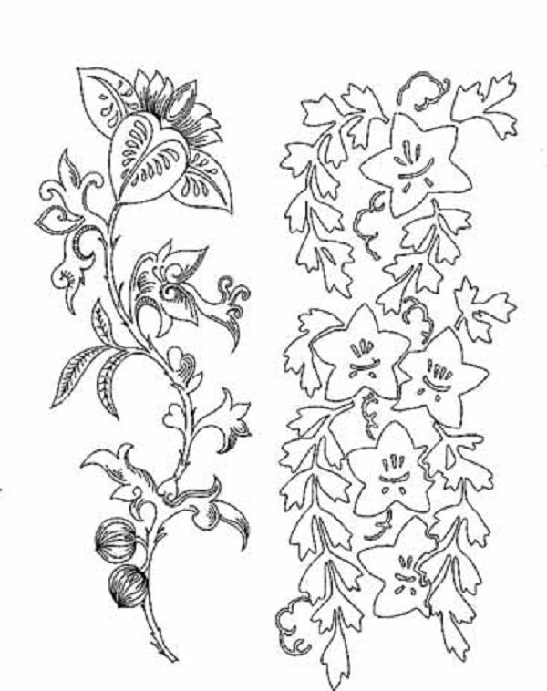600x758 Japanese Flower Coloring Pages Japanese Flower Coloring Pages