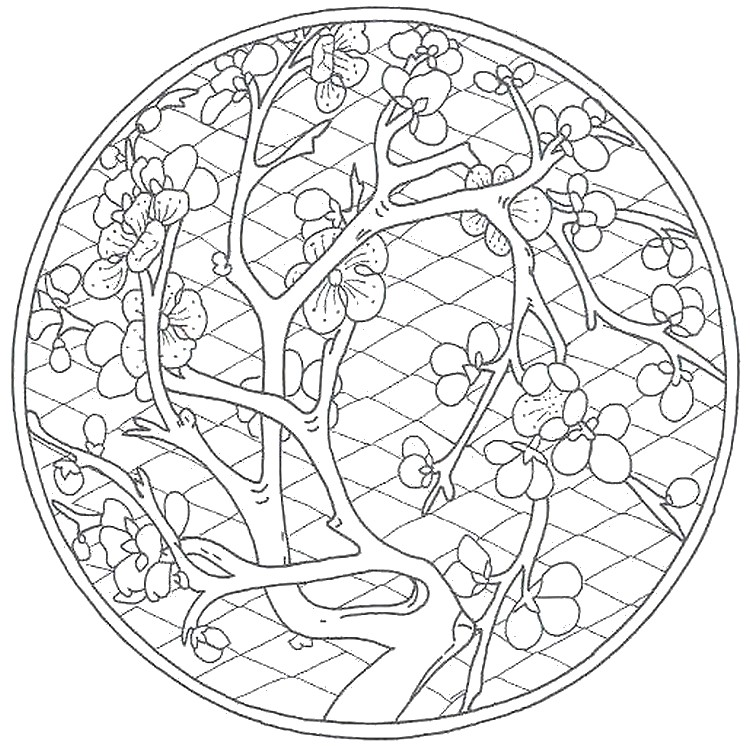 750x746 Adult Coloring Page China Chinese Garden