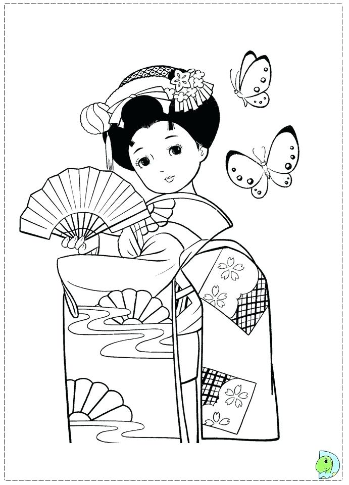 691x960 Japanese Coloring Pages Dance Under Wood Japanese Garden Coloring